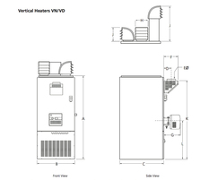 Cabinet heaters - vertical heaters VN/VD