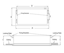 ACR Mini air curtains - fixing details