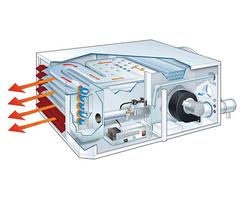 UESA condensing room sealed unit heater cutaway