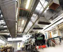Nor-Ray-Vac system heating the Orient Express shed