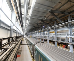 Nor-Ray-Vac radiant tube heating system for rail depot