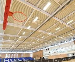 Radiant heaters for university sports centre