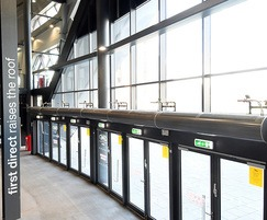 Air curtains installed over doors at First Direct Arena
