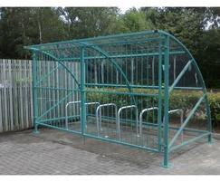 Bromley cycle shelter with gate option