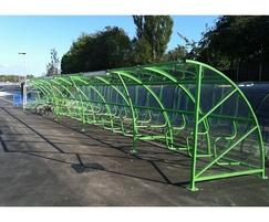 40 bike capacity  shelter at New Charter Academy