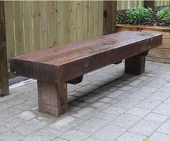 Solid Timber Bench, 450mm wide