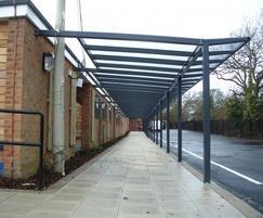 Columbus School covered walkway