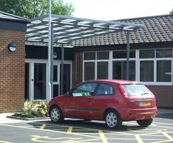 Bespoke canopy shelter, Enfield Resource Centre