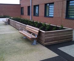 Stoke steel and timber planter