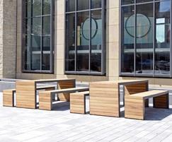 Bailey Streetscene: New Linares outdoor dining tables & public seating range
