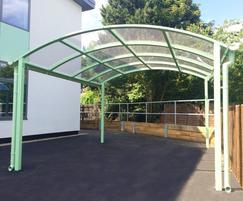 Barrel roof canopy