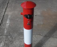 Heavyweight Key Operated Post - Red with white band