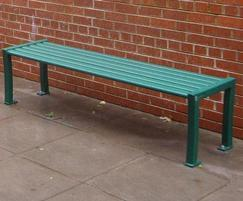 Anti-Vandal Steel Bench