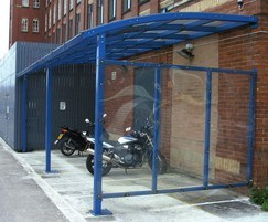 Wilmslow motorcycle shelter with side cladding