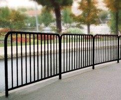 Pedestrian safety guardrailings - black