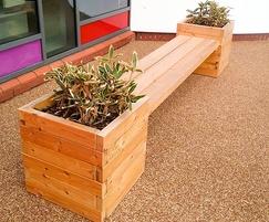 Springwell Planter Bench