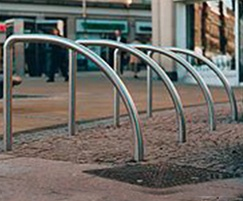 Fin Style Stainless Steel Cycle Stand