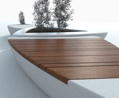 Arrowhead seating and planter units