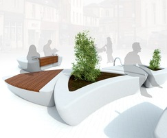 Arrowhead range of seating and planters