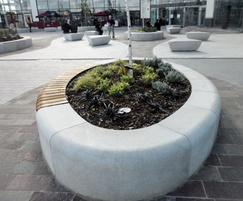 Street furniture -  Serpentine Green retail park