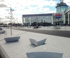 External seating - Serpentine Green retail park
