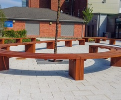 Imperial curved timber bench