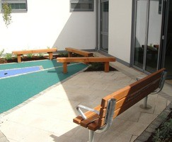 Solid timber benches and seat