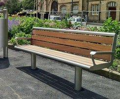 Bradford range - timber & stainless steel seat