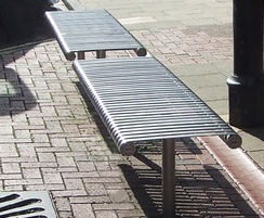 County Range - stainless steel bench