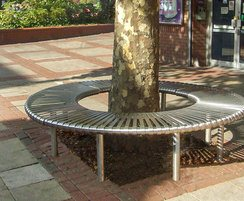 County Range - stainless steel tree bench