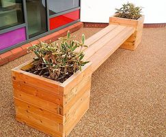Springwell Range - timber planter bench
