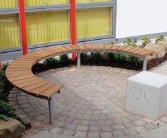 Springwell Range - curved timber & steel bench