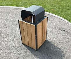 Springwell Range - timber & steel litter bin