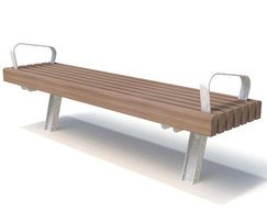 Alfriston range - timber & steel bench