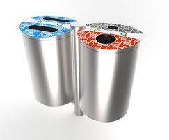 Bradford range - stainless steel recycling bin