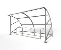 Springwell Range - steel cycle shelter