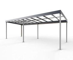 Springwell Range - steel canopy shelter