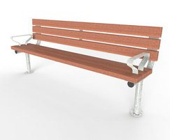 Springwell Range - timber & steel seat