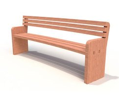 Provincial Range - curved timber seat