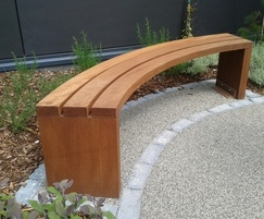 Provincial Range - curved timber bench