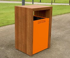 Provincial Range - timber litter bin