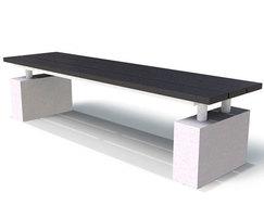 Regent Range - recycled plastic & concrete bench