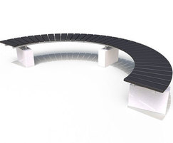 Regent Range - recycled plastic & concrete curved bench