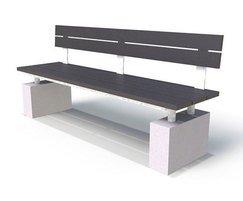 Regent Range - recycled plastic & concrete seat