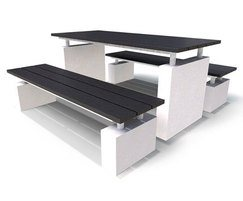 Regent Range - recycled plastic & concrete picnic set