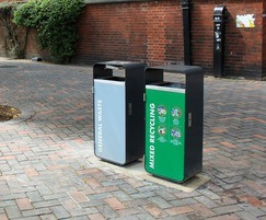 Ascot litter and recycling bins