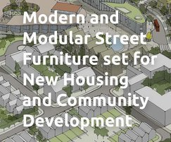 Modern and Modular Street Furniture set for New Housing