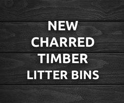 Bailey Streetscene: New charred timber finish for the Ascot litter bin
