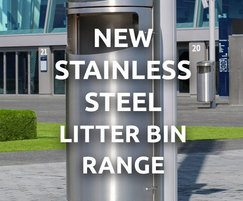 Bailey Streetscene: New stainless steel mitred-top litter bin