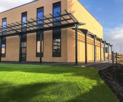 Extensive canopy around Lower School building